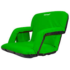 Deluxe Stadium Chair With Arms by Driftsun Expanded Width Deluxe Stadium Seat Folding Reclining
