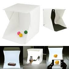 100 Studio Tent Mini Portable Photography Light Foldable Light Room Light Box Kit With LED Light Two BackgroundsWhite And Black Intl