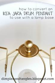 Red Lamp Shades Target by Dimples And Tangles How To Convert An Ikea Jara Drum Pendant