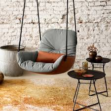 freifrau hängesessel leya swing seat leder stoff