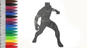 BLACK Panther Shows Like A Zombie Walk Coloring Pages SAILANY Kids