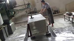 History Stone quartz countertops edge polishing processing