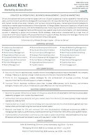 Best Marketing Resume Examples Director Executive Resumes Sales And