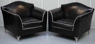 100 Contemporary Armchairs PAIR OF RRP 18000 CAVALLI NELLA VERTRINA AVALON LEATHER CONTEMPORARY ARMCHAIRS Antique Vintage Furniture Wimbledon