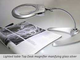 stylish desktop magnifying glass with led light silver amazon co