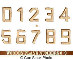 Rustic Wooden Font Alphabet Letters Clip Art Vector And