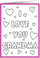I Love You Grandma Coloring Pages Printable
