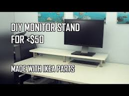 Ikea Computer Desk Hack by Best 25 Monitor Stand Ikea Ideas On Pinterest Diy Desktop