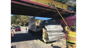 100 Truck Stuck Under Bridge Commercial Graffiti Loses Top