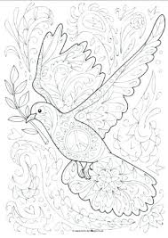 Dove Coloring Page Our Doodle Colouring Is So Pretty With Lots Of Detail We