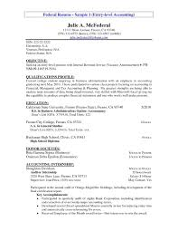 Accountant Resume Examples Entry Level Example Accounting