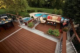 Certainteed Decking Vs Trex by Exterior Design Interesting Trex Decking With Elegant Deck