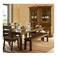 Crate Barrel Farmhouse Dining Table With Bench And Ladderback