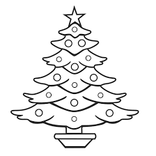 Children Pages Christmas Tree Coloring Sheets For Kids Free Printable