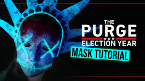 Purge Mask Halloween by The Purge Election Year Lady Liberty Mask Halloween Tutorial