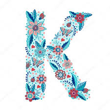 Floral Letter K Stock Vector © Annart 71108827