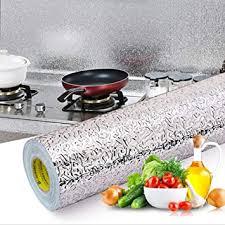 livelynine 40cmx5m silberfolie selbstklebend möbel klebefolie küche selbstklebende alufolie hitzebeständig folie für küchenrückwand küchenfliesen