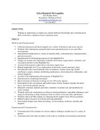 Download Resume Examples Templates Veterinary Assistant Of Free Sample Technician