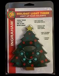CHRISTMAS TREE LIGHTS TIMER Ingraham Holiday Light Timer LCD Display NEW NIP