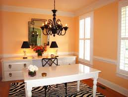 Stunning Orange Accent Wall Paint For Home Office
