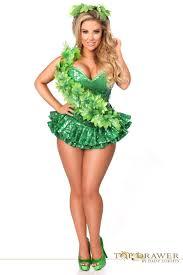 poison ivy green sequin corset halloween costume