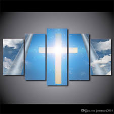 Wholesale Hd Printed Canvas Art Christian Cross Blue Sky Painting Framed Wall Pictures For Living Room By Jonemark2014 Under 3819