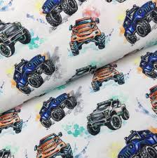 Organic Cotton Jersey Fabric - Monster Trucks | Jelly Fabrics Amazoncom Fleece Trucks Monster Truck Racing Checkered Flags Fabricworm Unique Childrens Fabric For Quilting Crafting Nosew Blanket Etsy 27 Adorable Sewing Patterns For Stuffies Plushies Stuffed Animals Modern Quilt Tutorial Therm O Web Joe Boxer Boys Pajamas Organic Sweat Buy Fabrics At Stoffonkel Jersey Swea Micro Print Monster Trucks Printed By Lauren Moshi Maglan Neon Boyfriend Raglan Fleece Blanket And Get Free Shipping On Aliexpresscom
