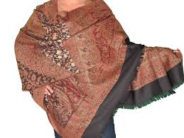 embroidered fashion scarf for women kashmir wool kani weave