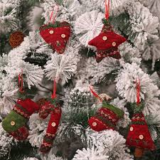 2018 Christmas Tree Decorations For Home Santa Claus Snowman Boots Xmas Ornaments