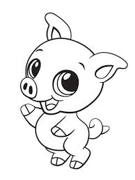 Cute Animal Coloring Pages Awesome Kawaii Animals Within