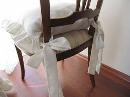 chair cushions with ties ruffle linen chair cushion covers 3