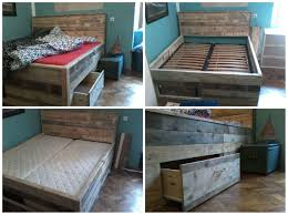 Pallet Bed Frame by Pallet Bed With Drawers U2022 1001 Pallets