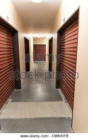 Hallway Of A Self Storage Facility Showing Doors