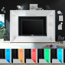 edge multimediwand wohnwand anbauwand wohnzimmer weiß