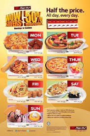 I Love Freebies Malaysia: Promotions > Everyday 50% Off At ... Pizza Hut On Twitter Get 50 Off Menupriced Pizzas I Love Freebies Malaysia Promotions Everyday Off At March Madness 2019 Deals Dominos Coupons How To Percent Pies When You Order Hit Promo Best Promo Code For The Sak Hut Large Pizza Coupons All Through Saturday Web Deals Half Price Books Marketplace Coupon Things To Do In Ronto Winter Papajohns Discount Is Buffalo Wild Wings Open