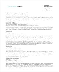 Designer Resume Sample Interior Cv Graphic Design