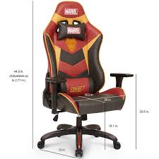 Licensed Marvel Super Premium Gaming Chair Series Iron Man ... 5 Best Gaming Chairs For The Serious Gamer Desino Chair Racing Style Home Office Ergonomic Swivel Rolling Computer With Headrest And Adjustable Lumbar Support White Bestmassage Pc Desk Arms Modern For Back Pain 360 Degree Rotation Wheels Height Recliner Budget Rlgear Every Shop Here Details About Seat High Pu Leather Designs Protector Viscologic Liberty Eertainment Video Game Backrest Adjustment Pillows Ewin Flash Xl Size Series Secretlab Are Rolling Out Their 20 Gaming Chairs