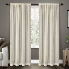 100 Residence Curtains Belgian 50 In W X 96 In L Sheer Rod Pocket Top Curtain Panel In Snowflake 2 Panels