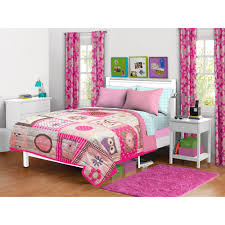 Pink John Deere Bedroom Decor by Elephant Stripe Bedding Quilt Set Turquoise Pink Walmart Com