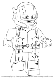 Learn How To Draw Lego Ant Man Step By Drawing Tutorials