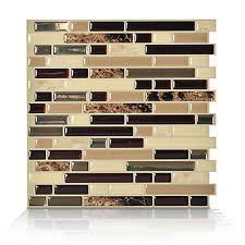 smart tiles 1 piece 10 13 inch x 10 inch peel and stick bellagio