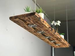 blockholz schmiede rustikale pendelle led leuchte