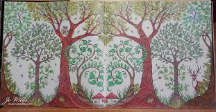 Here I Go Again Another Enchanted Forest Double Page Coloring Book Pages
