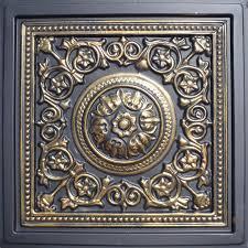 24 x24 majesty accent gold black pvc 20mil ceiling tiles antique