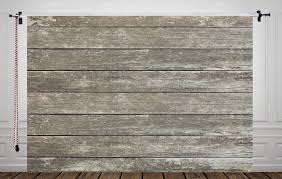 HUAYI Distressed Grey Wood Backdrop For Photography Rustic Floor Drop Photo D9832