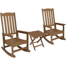 Sunnydaze Decor Brown All-Weather Traditional Plastic Patio Rocking Chair  With Side Table (2-Set) Castlecreek Oversized Adirondack Rocking Chair Surprising 27 Ecr16li Log Plans Dhlviews Hemlock Rocker Wildridge Outdoor Heritage High Fan Back Patio Garden Kits Plastic Free Fniture 18 You Can Diy Today Woodworking Woodoperating Machines An Small Free 2x4 Adirondack Chair Plans Chairs A Home Decoration Improvement