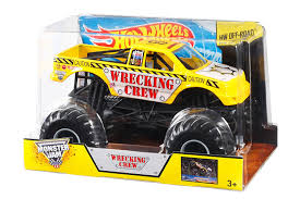 Amazon.com: Hot Wheels Monster Jam Wrecking Crew Die-Cast Vehicle, 1 ...