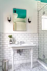 recessed medicine cabinets in bathroom transitional with porcelain