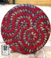 100 Pau Brazil Mandala They Were Used Three Types Of Seeds