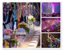 Hanging Upside Down Manzanita Branches With Colored Ribbon By Couture Events For Alice CenterpieceCenterpiece Ideas CenterpiecesWonderland